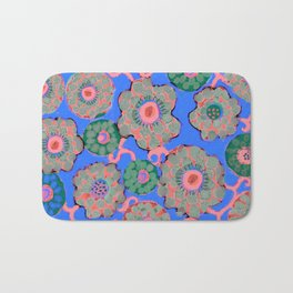 Arabesque Blue Bath Mat