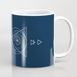 Espiral Triangle Blue Coffee Mug