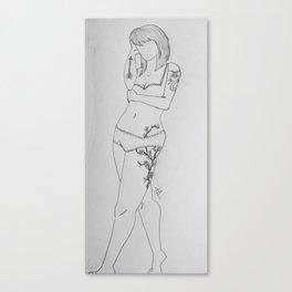 Shy Femme. Canvas Print