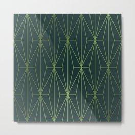 ELEGANT GREEN GABLES PATTERN Metal Print