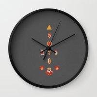 zelda Wall Clocks featuring Zelda by avoid peril