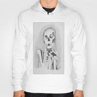 skeleton Hoodies featuring Skeleton by Ellen Norden