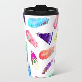 Candy Feather Pattern Travel Mug