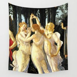 Sandro Botticelli Primavera The Three Graces Wall Tapestry