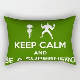 Keep Calm and Be a Superhero Rectangular Pillow