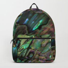 Oil Slick Abalone Mother Of Pearl Backpack