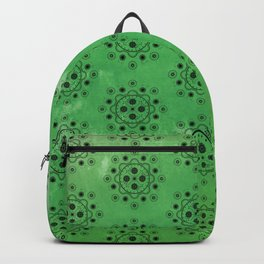 Green Mechanical Flowers Backpack