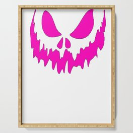 Scary Face Halloween Tshirt -Glow in the Dark Effect Print Serving Tray