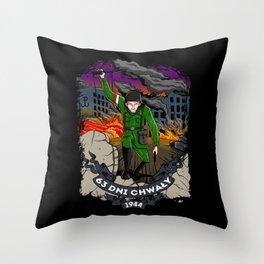 Warsaw Uprising Throw Pillow