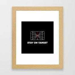 Stay on target Framed Art Print