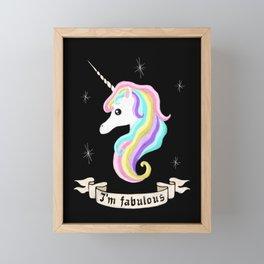 Fabulous unicorn Framed Mini Art Print