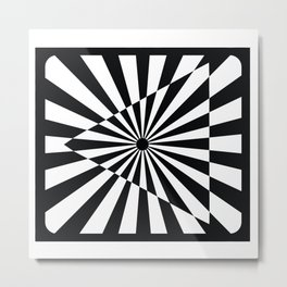 Optical Art Triangle Metal Print