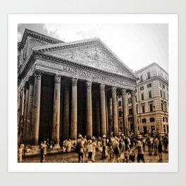 Agrippa built the Pantheon Art Print
