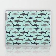 Sharks nature animal illustration texture print marine biologist sea life ocean Andrea Lauren Laptop & iPad Skin