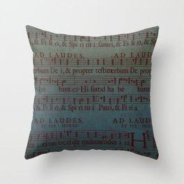Music Sheet Throw Pillow