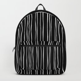 Wide Black Stripe Backpack