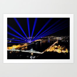 Lights over Budapest Art Print