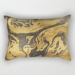 Black Dragon Marble Rectangular Pillow