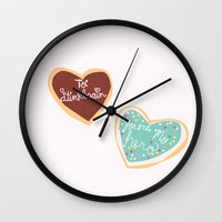 wreck it ralph Wall Clocks featuring wreck it ralph... you're my hero cookie by studiomarshallarts