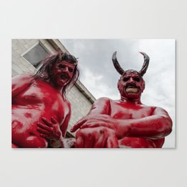 Double devil Canvas Print