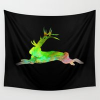 jackalope Wall Tapestries featuring Jackalope by Marc Wolff