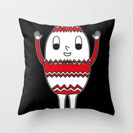 Egg Easter-Egg Serrated Throw Pillow