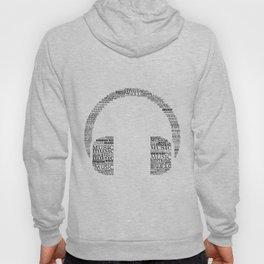 Typographic headphone Hoody
