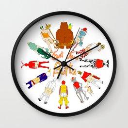 Fast Food Butts Mascots Wall Clock