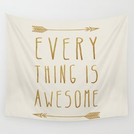 Everything is Awesome (beige edition) Wall Tapestry