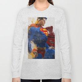 Watercolour Superman Long Sleeve T-shirt