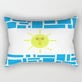 Argentina Flag Geometric Graphic Design Modern Art Rectangular Pillow