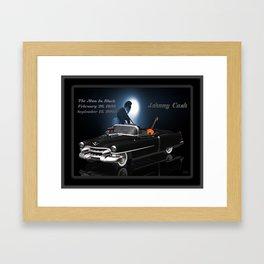 My #JohnnyCash tribute Framed Art Print