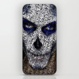 Skull In Black And White iPhone Skin