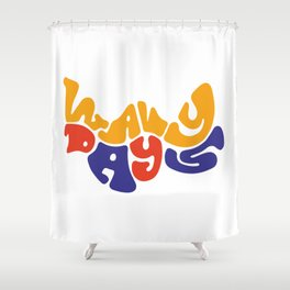 Wavy Days Shower Curtain