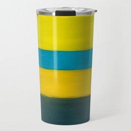 yellow blue Travel Mug