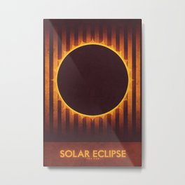 Sun - Solar Eclipse Metal Print