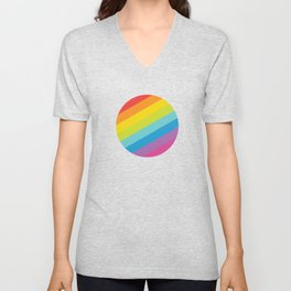Pride: Rainbow Geometric Circle Unisex V-Neck