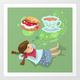 Cream Tea Art Print