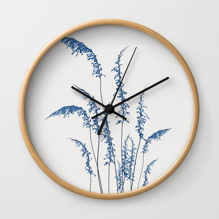 Blue flowers 2 Wall Clock