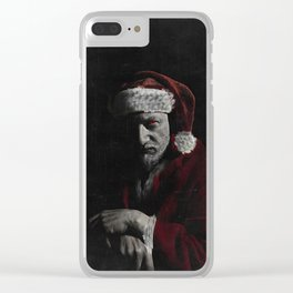 Krampus has a list too Clear iPhone Case