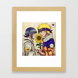 Naruto and Hinata Framed Art Print