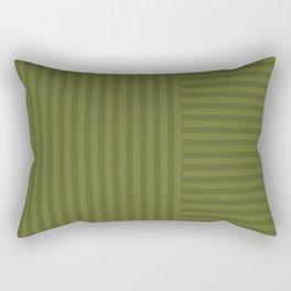 Olive striped pattern 2 Rectangular Pillow