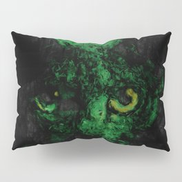 Night Vision Cat Abstract Painting Pillow Sham