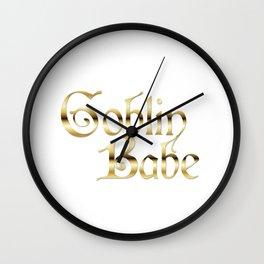 Labyrinth Goblin Babe (white bg) Wall Clock