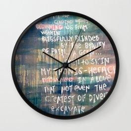 A Sea of Sin Wall Clock