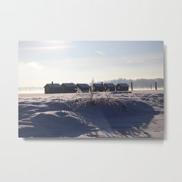 Cold sunny fog Metal Print