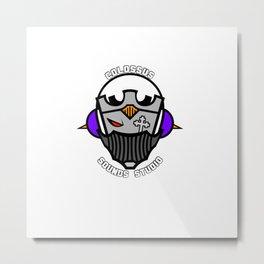 Colossus Sounds Studio Logo White Metal Print