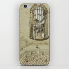 Michel Du Montaigne (1533 - 1592) An Inspirational Philosopher; Prison in the Sky iPhone Skin
