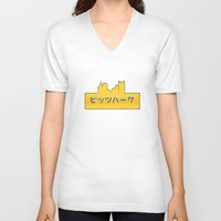 pittsburgh V-neck T-shirts featuring Tokyo Pittsburgh by Malc Doodle