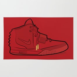 "Air Yzy 2 ""Red October"" Rug"